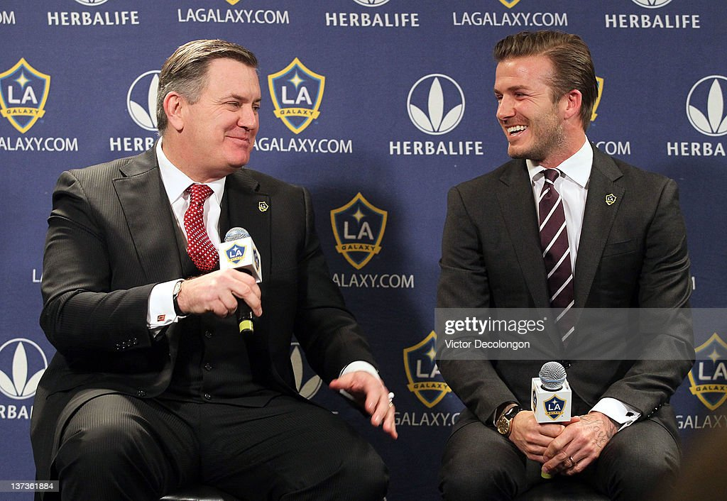 Los Angeles Galaxy Press Conference Announcing David Beckham's New Contract