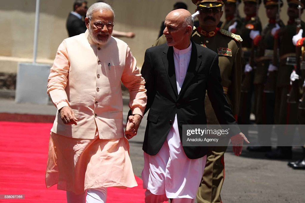 Indian Prime Minister Narendra Modi in Afghanistan : News Photo