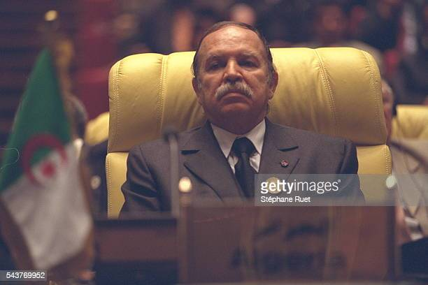 President of Algeria Abdelaziz Bouteflika attends the Organization of African Unity summit in Sirt