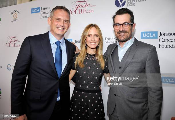 President of Alternative and Reality Group for NBC Entertainment Paul Telegdy Dana Walden and Ty Burrell attend UCLA Jonsson Cancer Center Foundation...