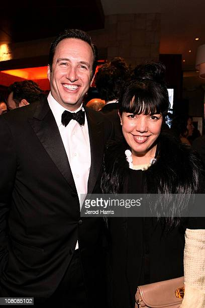 President of AMC Charlie Collier and EVP GM of Sundance Channel Sarah Barnett attend AMC's 2011 Golden Globe Awards Party held at The Beverly Hilton...