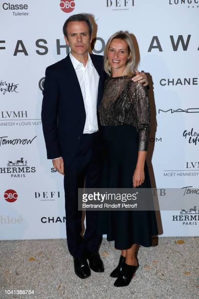 President of Andam Guillaume Houze and Constance Rey attend the ANDAM Cocktail Party as part of the Paris Fashion Week Womenswear Spring/Summer 2019...