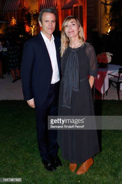 President of Andam Guillaume Houze and Founder of Andam Nathalie Dufour attend the ANDAM Cocktail Party as part of the Paris Fashion Week Womenswear...