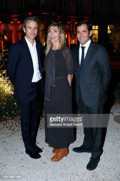 President of Andam Guillaume Houze Founder of Andam Nathalie Dufour and General Director of Galeries Lafayette Nicolas Houze attend the ANDAM...
