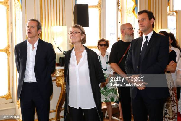 President of Andam Guillaume Houze French Minister of Culture Francoise Nyssen and Chief Executive of LVMH Fashion Group PierreYves Roussel attend...