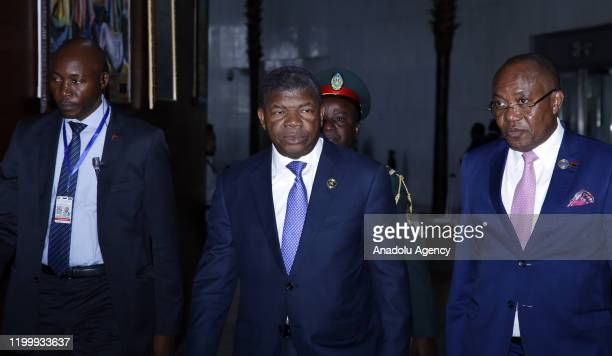 President of Angola Joao Lourenco attends closing session of the 33rd African Union Heads of State Summit in Addis Ababa, Ethiopia on February 10,...