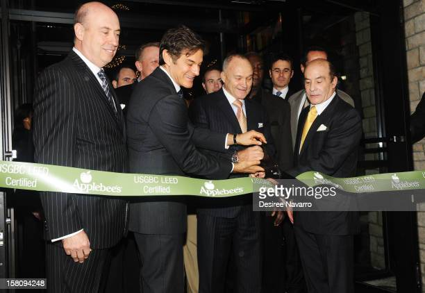 President of AppleMetro Inc Roy Raeburn Dr Mehmet Oz New York Police Commissioner Ray Kelly and CEO of AppleMetro Inc Zane Tankel attend Green And...