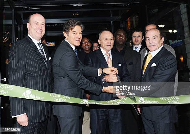 President of AppleMetro Inc Roy Raeburn Dr Mehmet Oz NYC Police Comisioner Raymond Kelly and Zane Tankel Founder and CEO of AppleMetro Inc attend...
