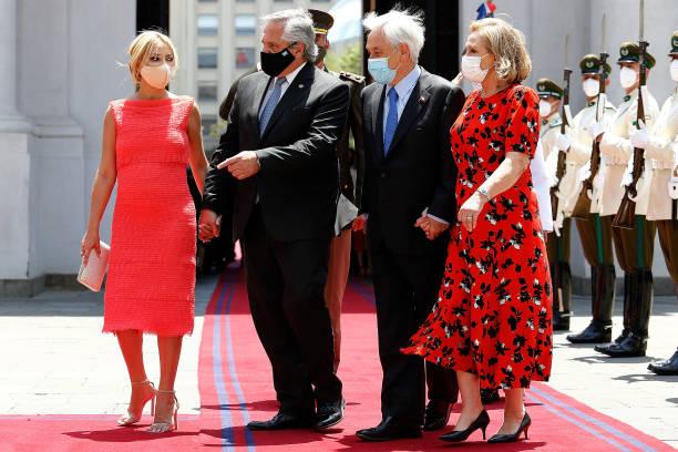 CHL: Argentine President Alberto Fernandez Meets Chilean President Sebastian Piñera