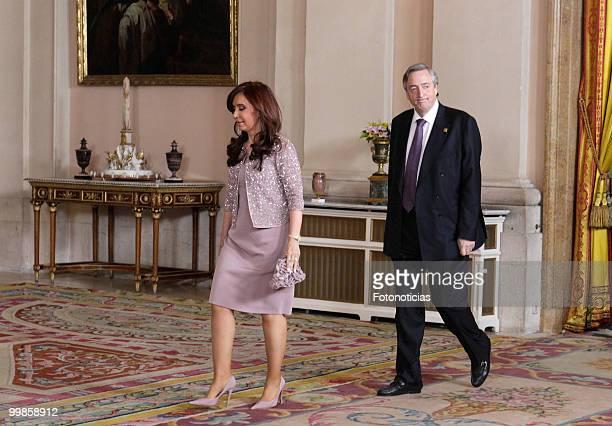 President of Argentina Cristina Fernandez and her husband Nestor Kirchner attend the VI European UnionLatin America and Caribbean Summit dinner at...