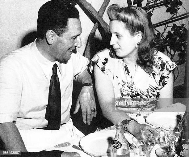 President of Argentina Juan Domingo Peron with his wife Eva 1950