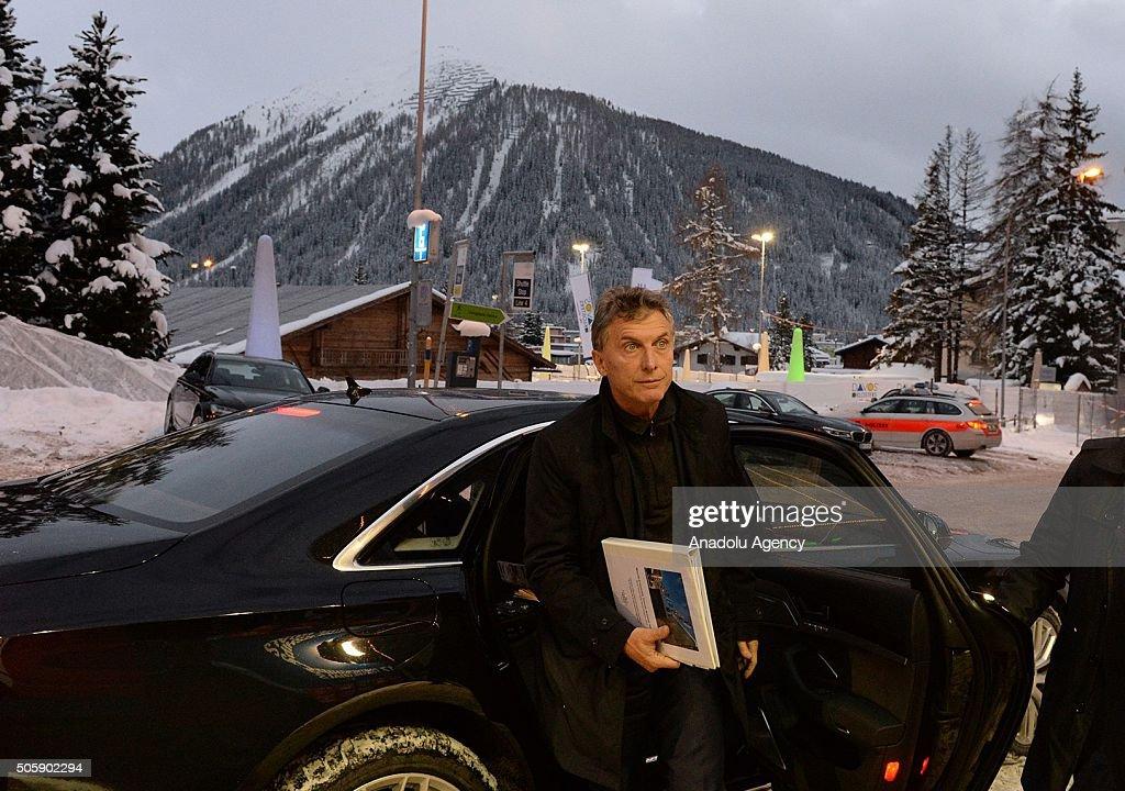 President of Argentina Macri in Davos : Fotografia de notícias