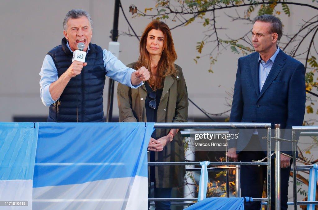 Maurcio Macri Re-election Campaign Rally in Buenos Aires : ニュース写真
