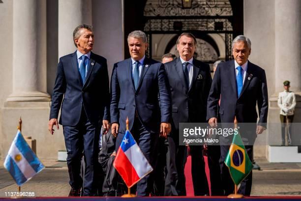 President of Argentina Mauricio Macri President of Colombia Iván Duque President of Brazil Jair Bolsonaro and President of Chile Sebastián Piñera...