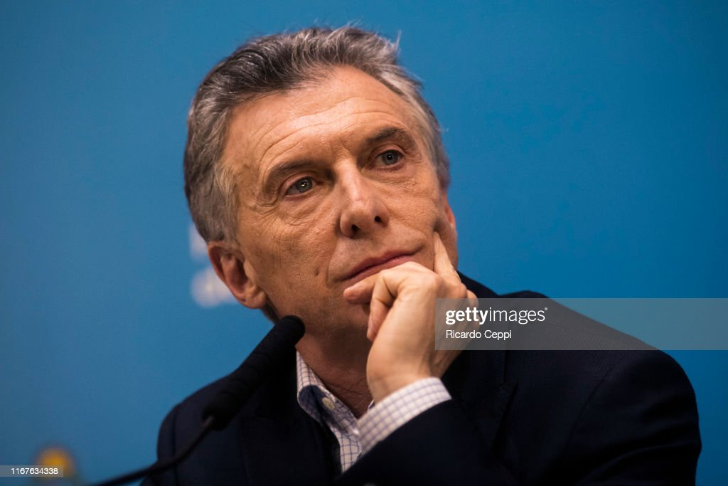 Mauricio Macri Speaks After Primary Presidential Elections : ニュース写真