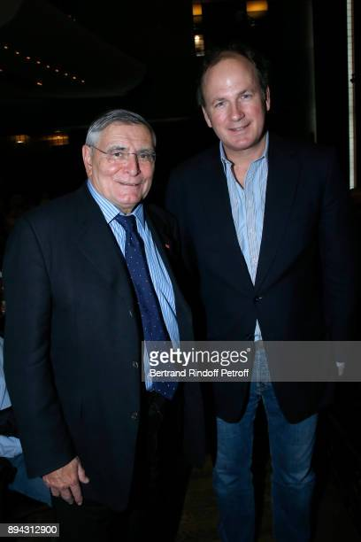 President of AROP JeanLouis Beffa and Frederic Motte attend the 32th 'Reve d'Enfants' Charity Gala at Opera Bastille on December 17 2017 in Paris...