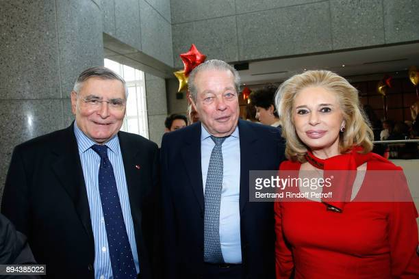President of AROP JeanLouis Beffa with Prince and Princess Michel de France attend the 32th 'Reve d'Enfants' Charity Gala at Opera Bastille on...