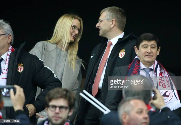 President of AS Monaco Dmitri Rybolovlev attends the French League Cup final between Paris SaintGermain and AS Monaco at Parc OL on April 1 2017 in...