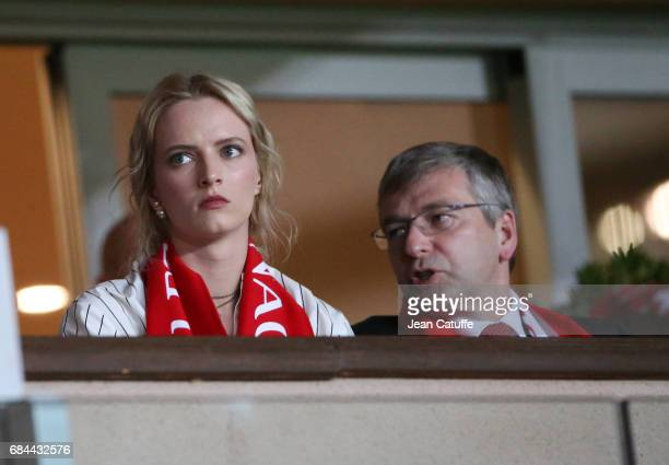 President of AS Monaco Dmitri Rybolovlev attends the French Ligue 1 match between AS Monaco and AS SaintEtienne at Stade Louis II on May 17 2017 in...