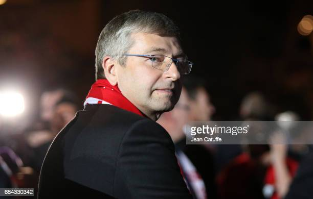 President of AS Monaco Dmitri Rybolovlev during the French League 1 Championship title celebration following the French Ligue 1 match between AS...