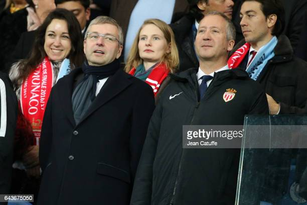 President of AS Monaco Dmitri Rybolovlev Vice President of AS Monaco Vadim Vasilyev attend the UEFA Champions League Round of 16 first leg match...