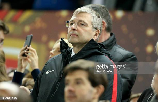 President of AS Monaco Dmitry Rybolovlev during the French League Cup final between Paris SaintGermain and AS Monaco on March 31 2018 in Bordeaux...