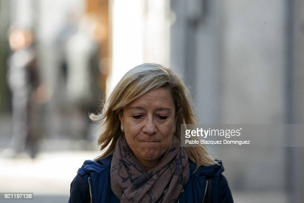President of Association of Municipalities for Independence Neus Lloveras arrives at the Supreme Court on February 20 2018 in Madrid Spain Some...