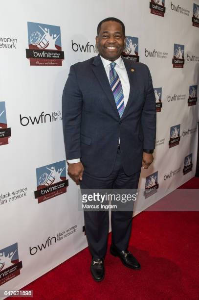 President of Atlanta City Council Ceasar Mitchell attends the 2017 Black Women Film Summit Untold Stories awards luncheon at Atlanta Marriott Marquis...