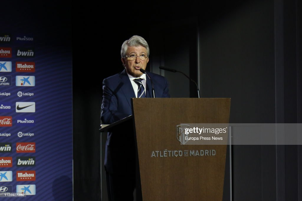 Alvaro Morata Is Presented As New Player Of Atletico De Madrid : News Photo