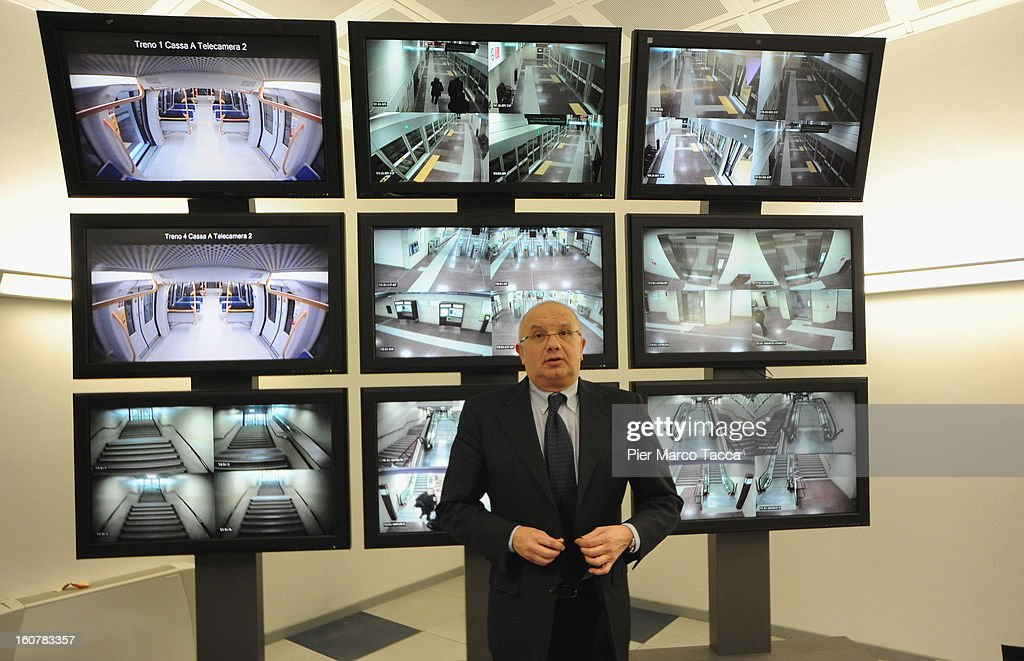 President of ATM Bruno Rota attends a press preview of the new underground line (linea M5) on February 5, 2013 in Milan, Italy. The new metropolitan line M5 is the first line to Milan without train operator and every train it is able to transport up to 536 people.