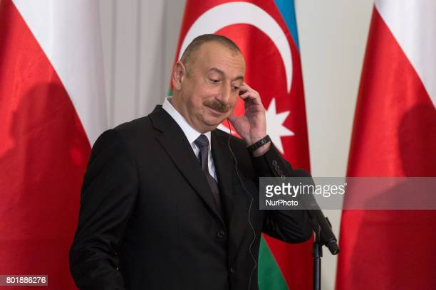 President of Azerbaijan Ilham Aliyev at Presidential Palace in Warsaw Poland on 27 June 2017