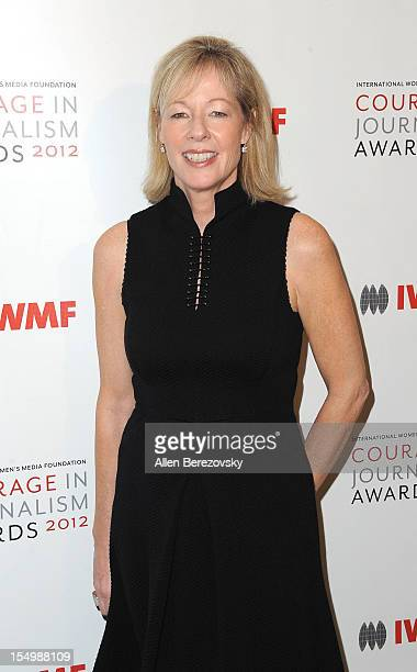 President of Bank of America California Janet Lamkin arrives at the 2012 Courage in Journalism Awards hosted by the International Women's Media...