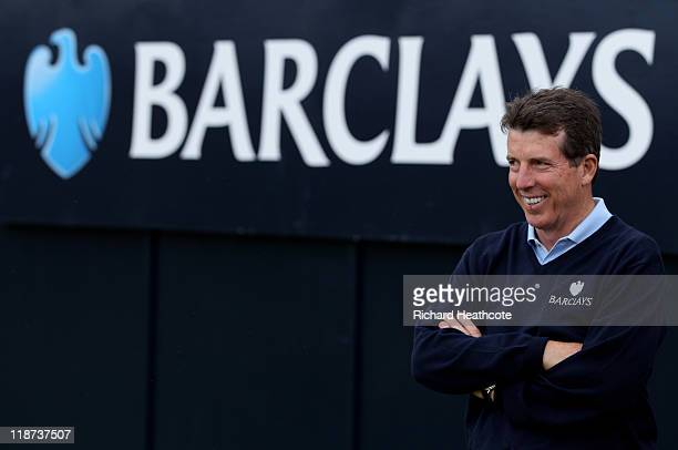 President of Barclays Bob Diamond looks on during the final round of The Barclays Scottish Open at Castle Stuart Golf Links on July 10 2011 in...