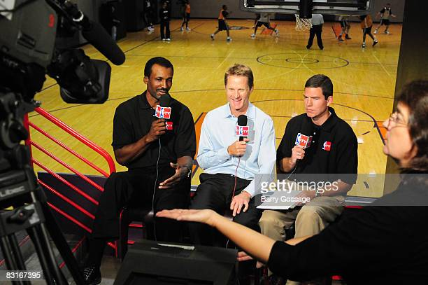 President of Basketball Operations and General Manager of the Phoenix Suns Steve Kerr talks with NBA Legend Eddie Johnson and Rick Kamla of NBA TV...
