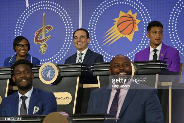 President of Basketball Operations for the Minnesota Timberwolves Gersson Rosas attends the 2019 NBA Draft Lottery on May 14 2019 at the Chicago...