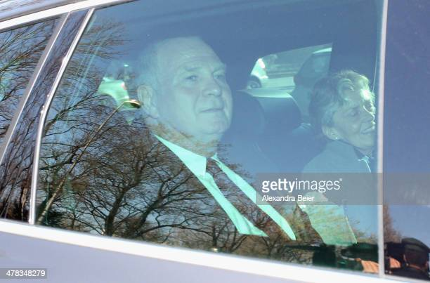 President of Bayern Muenchen Ulrich Hoeness and his wife Susanne arrive for the verdict day of Hoeness' trial at the Higher Regional Court on March...
