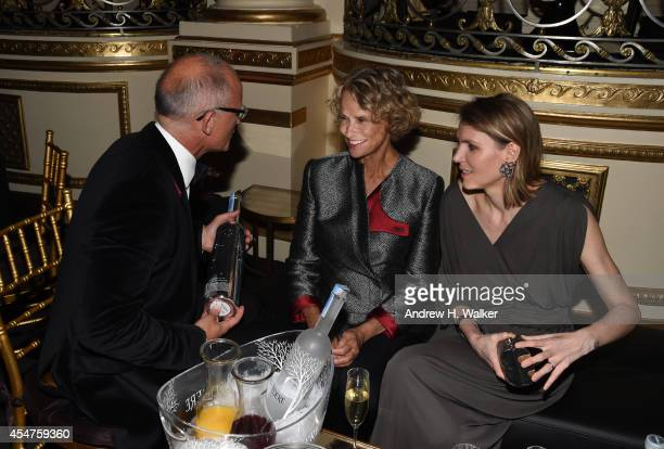 President of Belvedere Vodka Charles Gibb and Lauren Hutton attend Moet Chandon and Belvedere Vodka Toast to Harper's Bazaar Icons at The Plaza Hotel...