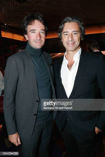 President of Berluti Antoine Arnault and CEO of Facebook France Laurent Solly attends the Berluti Cocktail as part of the Paris Fashion Week...