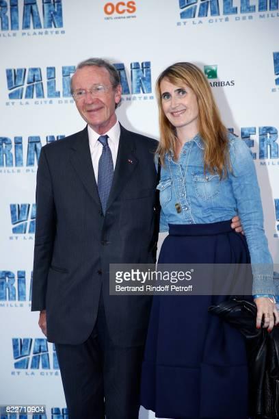 President of BNP Paribas Michel Pebereau and his daughter Sarah attend 'Valerian et la Cite des Mille Planetes' Paris premiere at La Cite Du Cinema...