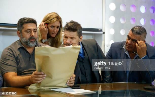 President of Boca Juniors Daniel Angelici member of Regularization Committee of AFA Carolina Cristinziano Vicepresident of San Lorenzo Marcelo...
