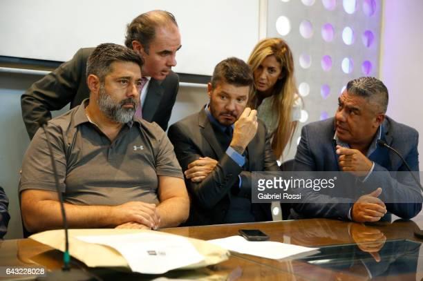 President of Boca Juniors Daniel Angelici Vicepresident of Regularization Committee of AFA Javier Medin member of Regularization Committee of AFA...