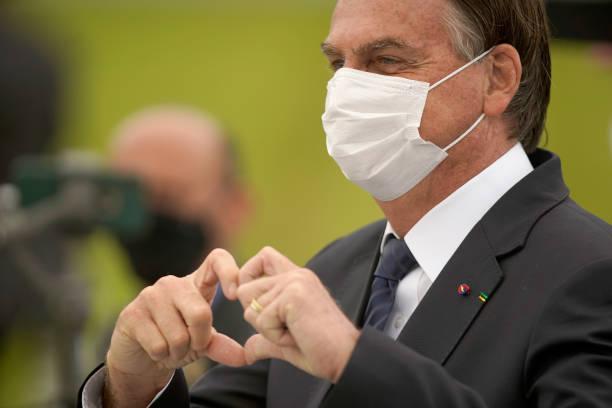 BRA: Jair Bolsonaro Attends Flag Oath Ceremony Amid National Protests
