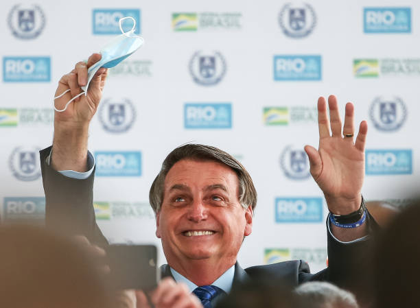 BRA: Bolsonaro Participates in the Opening of Escola Civico Militar in Rio de Janeiro  Amidst the Coronavirus (COVID - 19) Pandemic
