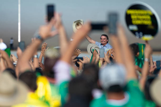 BRA: President Bolsonaro Attends a Protest in Support of His Government