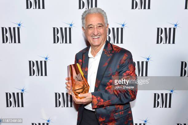 President of Broadcast Music Inc Del Bryant attends as BMI presents Dwight Yoakam with President's Award at 67th Annual Country Awards Dinner at BMI...