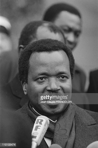 President of Cameroon Paul Biya at the Elysee Palace in Paris, France on February 14, 1983.