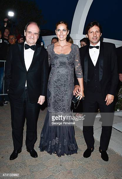 President of Cannes Film Festival Pierre Lescure Ex Brazilian Soccer Player Leonardo Nascimento de Araujo and Anna Billo attend the Chanel Vanity...