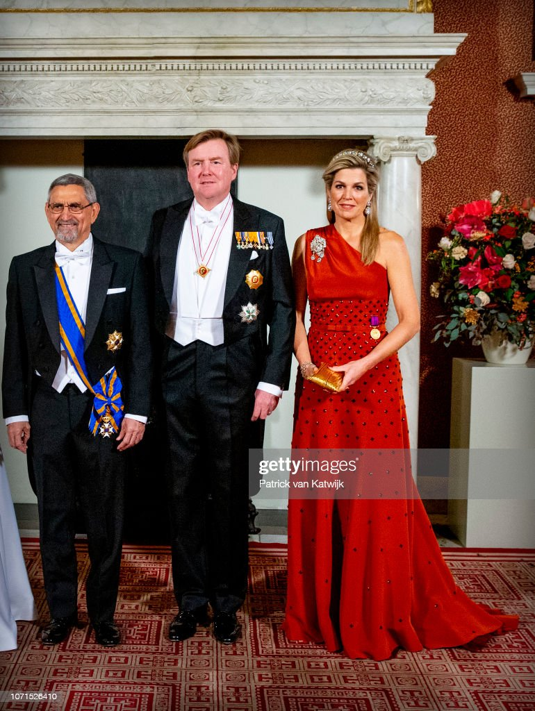 King Willem-Alexander Of The Netherlands And Queen Maxima Of The Netherlands Visit Cape Verde : Day One : Nieuwsfoto's