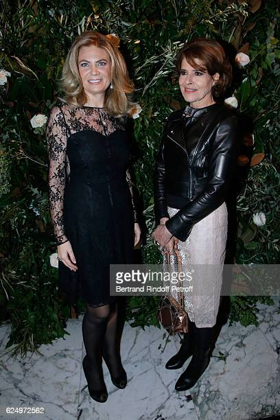 President of Care France Arielle de Rothschild and actress Fanny Ardant attend the 'Diner des amis de Care' for the 70th anniversary of the...