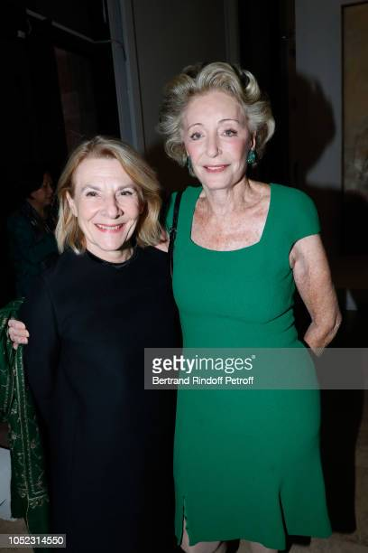 President of Castle of Versailles Catherine Pegard and Ariane Dandois attend the 'Societe des Amis du Musee d'Art Moderne' Dinner Held at Musee d'Art...